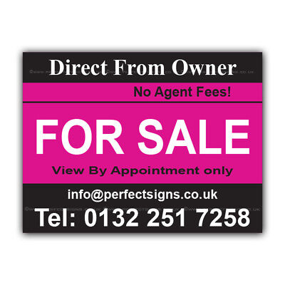 CORPP00002 For Sale Correx Sign Printed Boards House Estate Agent Signs