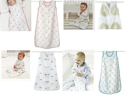 Brand New Aden & Anais Cotton Muslin Baby Sleeping Bag/Blanket.