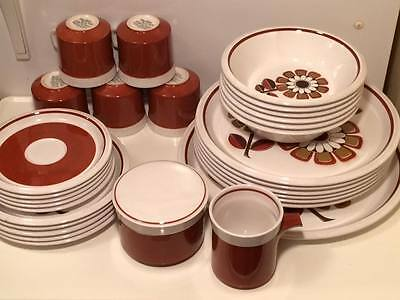 Mid Century Mikasa floral grenadier light and l ively 31 piece dinner set