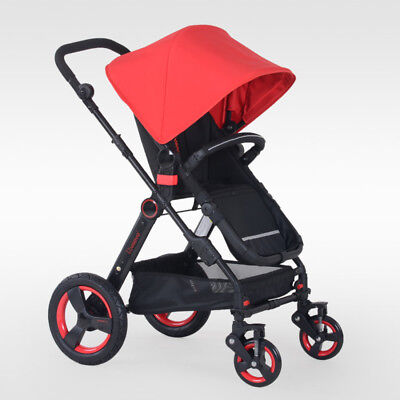 2 in1 Baby Newborn Toddler Travel Pram  Bassinet Stroller Jogger 4 Wheels Prams