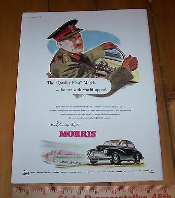 1952 MORRIS Automobile Full Page Ad Advertisement