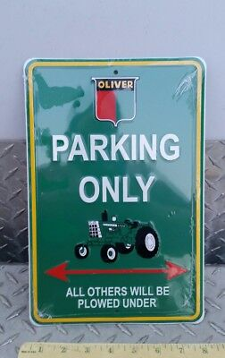 Agco white oliver tractor parking aluminum Sign very colorful nice free ship