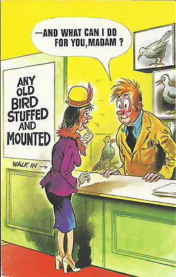 Vintage 1970's Bamforth COMIC Postcard (as new condition) Stuffed & Mounted #465