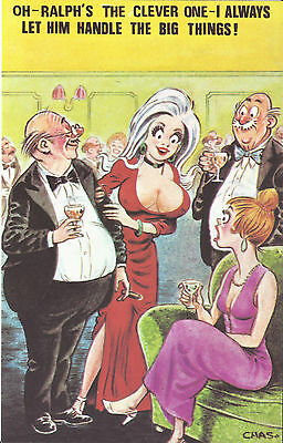 Vintage 1970's Bamforth COMIC Postcard (as new) RALPH Handle the Big Things #557