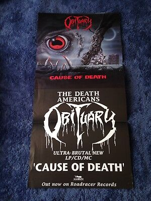 OBITUARY - Cause Of Death POSTER (63.5cm x 31.5cm)