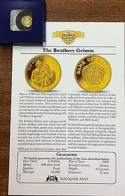 2008 the brothers Grimm  .9999 Gold , 5 dollars Nauru