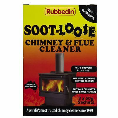 Soot Loose Chimney Cleaner 3 Sachets 50g each Chimney and Flu Cleaner Fireplace