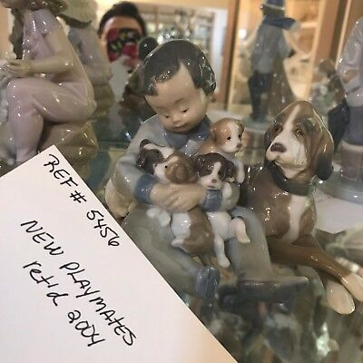 "LLADRO 5456 ""New Playmates"" Retired in 2005 Figurine Huge COLLECTION see pix"