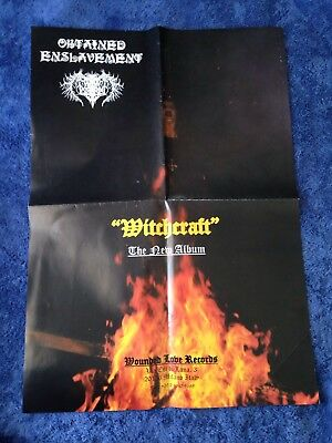 OBTAINED ENSLAVEMENT - Witchcraft POSTER (69cm x 48.5cm) Black Metal