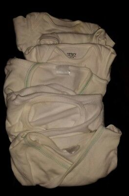Lot of 7 newborn & 6 mo baby long sleeve undershirts bodysuits & side-snap, EUC
