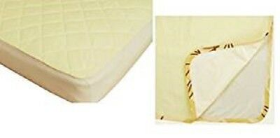 Waterproof Fitted Bamboo Crib Mattress  Pad And Multi Use Pad