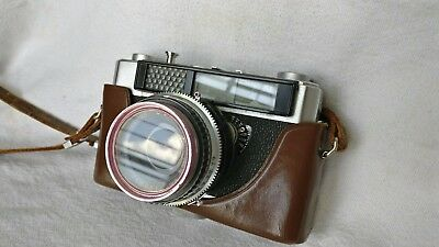 Olympus Auto Eye 35mm Rangefinder Film Camera #J008d with Partial Case