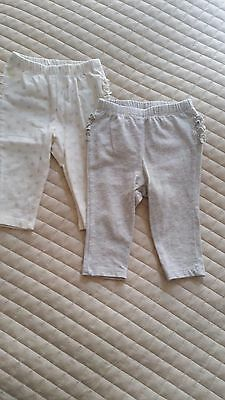 Old Navy Baby Girl Ruffle back leggings, size 6-12 months
