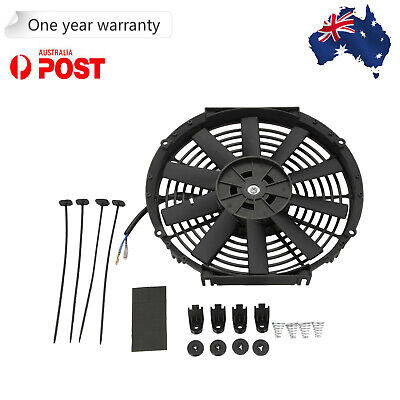 """12"""" Electric Fan Radiator Cooling Thermo Fan + Mounting Kit 12V 80W Universal"""