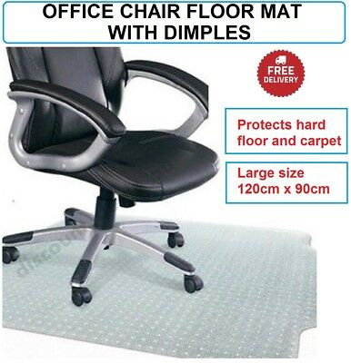 Chair Floor Mat Protector Office Desk Hard Carpet Floor Office Computer 120x90cm