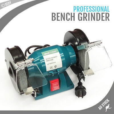 "6"" 150mm Bench Grinder Grinding WIth Polishing Stone Sharpener Industrial Tool"