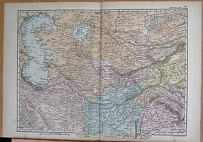 1890 Large Victorian Map - Central Asia