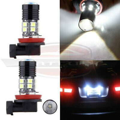 2x H11 H8 H9 Cree LED 12 SMD Projector  White Light Fog DRL Daytime HID 6000K