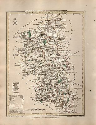 1816 County Map G Cole & J Roper : Buckinghamshire
