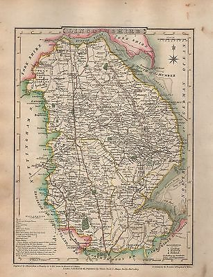 1816 County Map G Cole & J Roper :lincolnshire