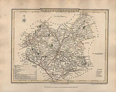 1816 County Map G Cole & J Roper :Leicestershire