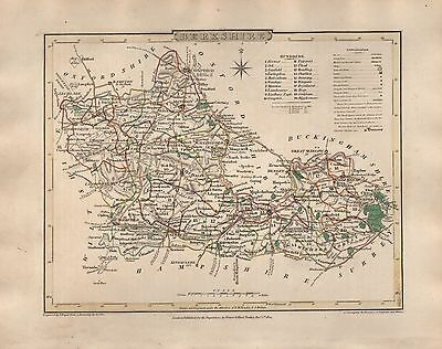 1816 County Map G Cole & J Roper : Berkshire