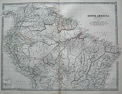 1868 Large Victorian Map : South America Northern Sheet