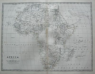 1868 Large Victorian Map : Africa