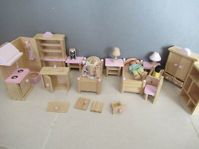 Wooden Doll House Furniture Mixed Set Collect Heidelberg Or Post Aud Picclick Au