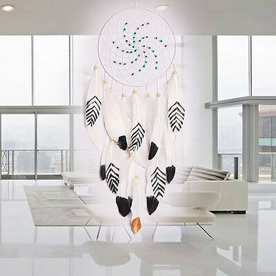 BU_ Feather Dream Catcher Home Wall Hanging Decoration Room Ornament Craft Serap