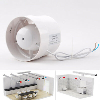 """4"""" White Inline Duct Booster Fan Cooling Exhaust Blower Air Cooling Vent 110V"""