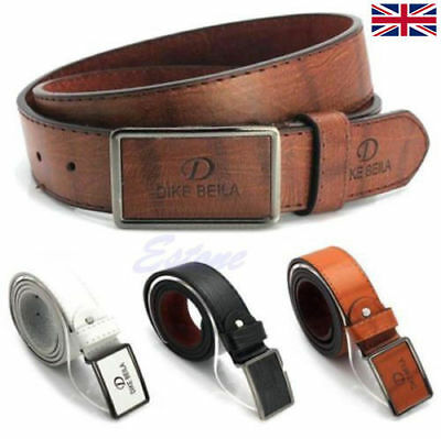 Luxury Men's Waistband Leather Automatic Buckle Belt Casual Waist Strap Belts