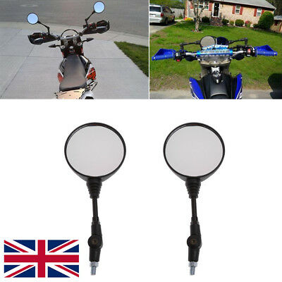 2pc Universal Folding Motorcycle Side Rearview Mirror 10mm For BMW Yamaha Honda
