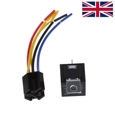 Waterproof Car Relay DC 12V 40A 5Pin Automotive Fuse Relay Normally Open Alloy