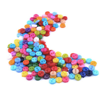New 200pcs Mixed Mini Colors Round Shape Acrylic Buttons Lots 2 Holes Sewing 6mm
