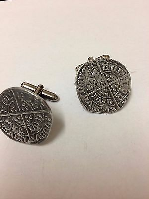Richard III Groat Coin WC52A Pair of Cufflinks Made From English Pewter