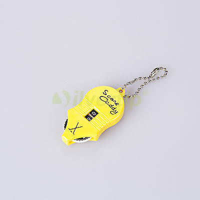 Golf Score Keeper Record Two Dial Digits Counter Stroke Shot Putt Key Chain Tool