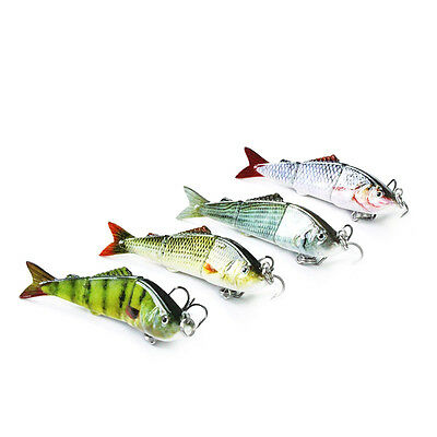 """2.5"""" Swimbait Multi Jointed Small Fishing Lure Life-like Sinking Hard Lures 03A"""
