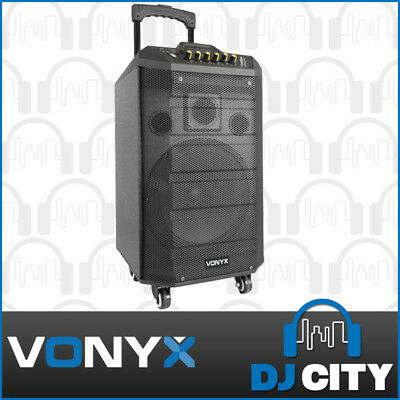 Vonyx VPS10 Portable PA Speaker Re-Charable with Bluetooth USB MP3 Media Player