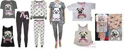Primark Hug A Pug Dog Pugs Kisses Pjs Pyjamas Or Vest T Shirt Top Leggings Pants
