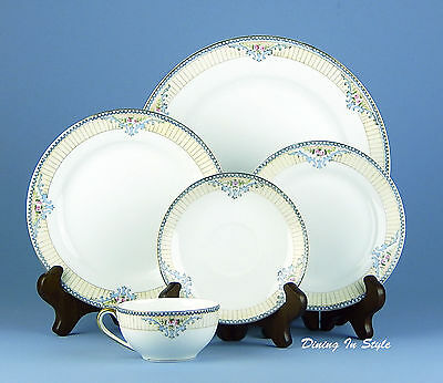5-Piece Place Setting (s) Noritake Savoy, SUPERB Condition! Blue, Pink & Yellow