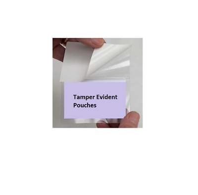 TAMPER EVIDENT Cold Seal Clear Laminating ID Card Badges - Self Adhesive Pouches