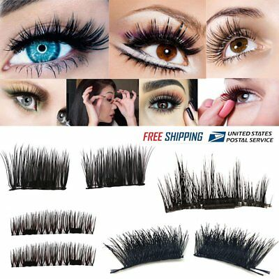 4Pcs 3D Magnetic Eyelashes False Eye Lashes Extension Handmade Mink Eyelashes YW