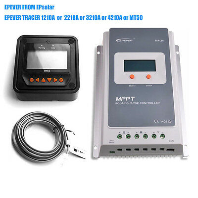 EPEVER 10A 20A 30A 40A MPPT Solar Panel Charge Controller Regulator MT50 Wifi YW