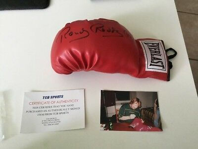WWE/WWF Rowdy Roddy Piper Signed Boxing Glove Boxhandschuh With Coa Everlast