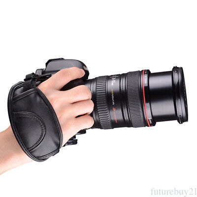 PU Leather Padded Hand Grip Wrist Strap for Camera Canon EOS Nikon SLR DSLR HA