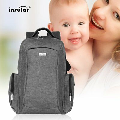 INSULAR Multifunctional Double Shoulder Bag Mummy Bag Nylon Baby Diaper Bag YW
