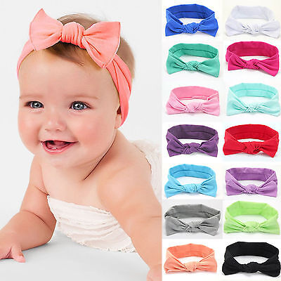 Kid Baby Girl Toddler Solid Headband Hair Band Accessories Headwear For Infant N
