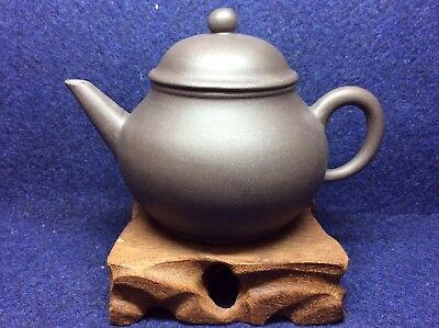 Chinese Old YiXing Black Clay Teapot Year Manufactured 80s - 200ml