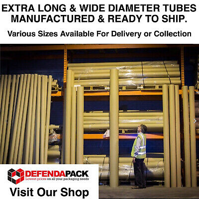 "1 x 3m 300cm 118"" EXTRA LONG x 203.2mm 8"" WIDE DIAMETER STRONG Cardboard Tubes"